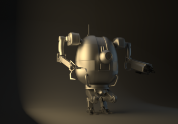 PBR Robot – Work in Progress da un concept personale